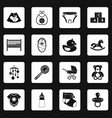 newborn icons set squares vector image