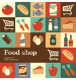 food shop vector image vector image
