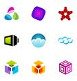 logo design elements set 21 vector image