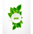 fresh green nature background vector image vector image
