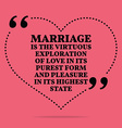 Inspirational love marriage quote Marriage is the vector image