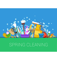 Spring cleaning background vector image vector image