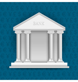 Bank on background of symbols currency vector image