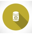 barrel with danger signs icon vector image