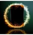 Digital mobile phone vector image