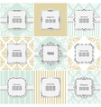 Elegant frame on pattern set vector image