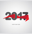 happy new year 2017 text design origami ribbon vector image