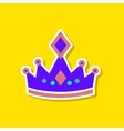 paper sticker on stylish background crown royal vector image