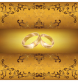 Wedding greeting or invitation card with wedding vector image