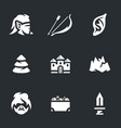 set of elves archer icons vector image