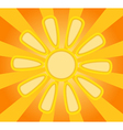 Abstract yellow paper sun vector image