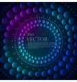 Abstract pattern of graduated turquoise shiny dots vector image