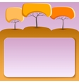 Banner with abstract trees vector image