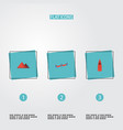 flat icons china moscow great pyramid and other vector image