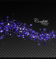 glittering blue stream of sparkles vector image