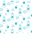 Milk and cookie seamless pattern vector image