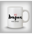 Romantic card poster mug t-shirt print Hello vector image