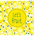 Seamless pattern of lemons vector image