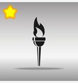 torch black icon button logo symbol vector image