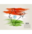 India map in national flag tricolors Abstract vector image