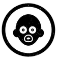 Baby Head Rounded Grainy Icon vector image