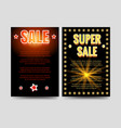 shining sale brochure flyers template vector image