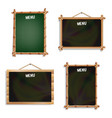 restaurant menu boards set isolated on white vector image