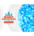 Christmas light and snowflakes backg vector image vector image