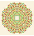 hand draw floral circle ornament ornamental round vector image vector image