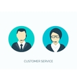 Flat customer service avatars vector image