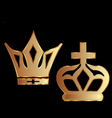 Gold crowns vector image vector image