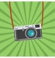 Retro Photo camera icon Flat design vector image
