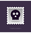 halloween skull stamp vector image