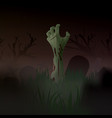 halloween zombie arm out of the vector image