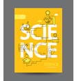 Infographic of science concept vector image
