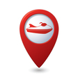 scooter icon red map pointer vector image