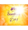 Summer background with sun burst EPS 10 vector image