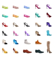Women s fashion collection of shoes vector image