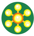 yellow spinner with balls on blades vector image