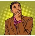 thinker pose black businessman
