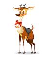 Beautiful Christmas deer vector image