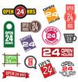 24 hour service icon element set vector image