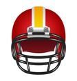 Football helmet vector image vector image