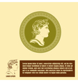 Ancient profile of man logo design template vector image