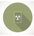 barrel with hazardous material icon vector image vector image