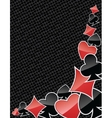 Abstract poker suits background vector image