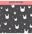 Cute funny seamless pattern with Bunny and hearts vector image