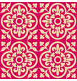red royal pattern vector image