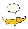 cartoon happy dog with thought bubble vector image