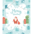 Christmas decoration card vector image